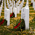 Christmas Wreaths Laid At The Arlington Cemetery by B Christopher