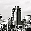 Cincinnati Black And White Panorama by Frozen in Time Fine Art Photography