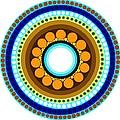 Circle Motif 214 by John F Metcalf