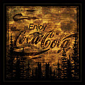 Coca Cola Wooden Sign by John Stephens