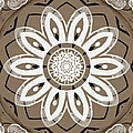 Coffee Flowers 8 Olive Ornate Medallion by Angelina Vick