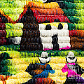 Colorful Fabric At Market In Peru by Mariusz Prusaczyk