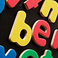 Colorful Letters by Tom Gowanlock