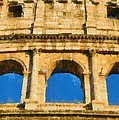 Colosseum In Rome Under Late Afternoon Light by George Atsametakis