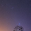 Conjunction Of Venus And Jupiter by Laurent Laveder/science Photo Library