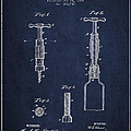 Corkscrew Patent Drawing From 1884 by Aged Pixel