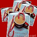 Cup Of Christmas Cheer - Candy Cane - Candy - Irish Cream Liquor by Barbara Griffin