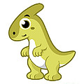 Cute Illustration Of A Parasaurolophus by Stocktrek Images