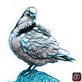 Cyan Pigeon Pop Art 5516 - Fs - Bb -  Modern Animal Artist James by James Ahn