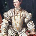 Da Brescia's Portrait Of A Lady In White by Cora Wandel