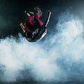 Dancer Leaping Through Smoke by Henrik Sorensen