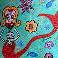 Day Of The Dead Mermaid by Pristine Cartera Turkus