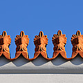 Decorative Roof Tiles In Plaka by George Atsametakis
