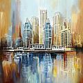 Dubai Skyline by Corporate Art Task Force