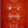 Dumbbell Patent Drawing from 1927 by Aged Pixel