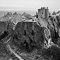 Dunnottar Castle Monochrome by Jason Politte