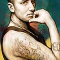 Eminem - Stylised Drawing Art Poster by Kim Wang