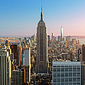 Empire State Building At Sunset by Sylvain Sonnet