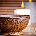 Exotic Bowl And Candles by Tim Hester