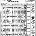 Family Almanac, 1874 by Granger