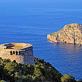 Famous Tower Of Savinar On Ibiza Island by Karol Kozlowski