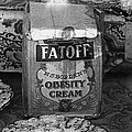 Fatoff Obesity Cream Bottled Electricity Store Window Ghost Town Virginia City Montana 1971 by David Lee Guss