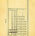 Felt Adding Machine Patent Art 1887 by Ian Monk