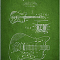 Fender Electric Guitar Patent Drawing From 1966 by Aged Pixel
