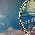 Ferris Wheel Retro by Jane Rix