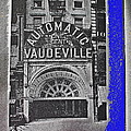 Film Homage Automatic 1 Cent Vaudeville Peep Show Arcade C.1890's New York City Collage 2013 by David Lee Guss