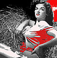 Film Homage Jane Russell The Outlaw 1943 Publicity Photo Photographer George Hurrell 2012 by David Lee Guss