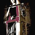 Film Noir Dance Hall Girl Looks Down On Robert Mitchum The King Of Noir Filming Old Tucson Az 1968 by David Lee Guss