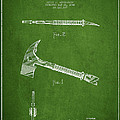 Fireman Axe Patent drawing from 1940 by Aged Pixel