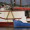 2 Fishing Boats At The Dock by David Stone