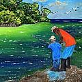 Fishing Buddies by Laura Forde