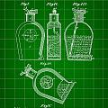 Flask Patent 1888 - Green by Stephen Younts
