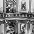 2 Floors Black And White Michigan State Capitol  by John McGraw