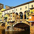 Florence Italy Ponte Vecchio by Irina Sztukowski