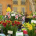 Flowers At Market by Brian Jannsen