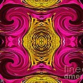 Fuchsia Sensation Abstract by J McCombie
