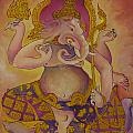 Ganesha God Of Hindu by Tosporn Preede