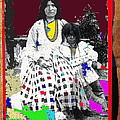 Geronimo's Wife Ta-ayz-slath And Child Unknown Date Collage 2012 by David Lee Guss
