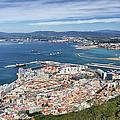 Gibraltar City And Bay by Artur Bogacki