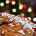 Gingerbread Cookies On Platter by Amy Cicconi