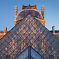 Glass Pyramid At Musee Du Louvre by Brian Jannsen