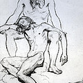 God The Father And God The Son by Henri Lehmann