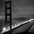 Golden Gate Bridge At Night by Underwood Archives