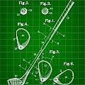 Golf Club Patent 1909 - Green by Stephen Younts