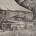 Grandpa's Old Barn With Chevy Truck by Chris Shepherd