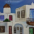 Greek Village by Janice Pariza